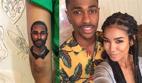 jhene aiko gets giant tattoo of big sean to prove its real
