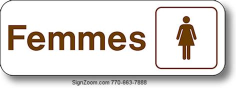 french bathroom sign femmes women french sign