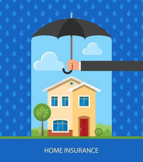 home protection plan insurance home protection plan concept vector illustration in flat