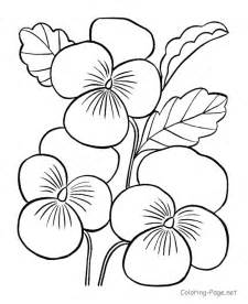 Galerry big flower coloring page