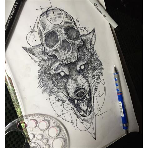 Tattoo Wolf Instagram | artwork design wolf tattoo on instagram inked