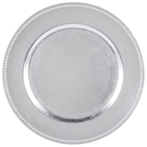 what are charger plates for the companies 13 quot silver beaded melamine charger
