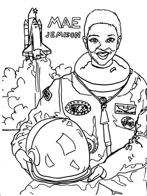 coloring pages for women s history month mae jemison coloring pages people power coloring pages