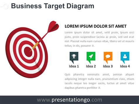 Target Business Powerpoint Diagram Presentationgo Com Target Powerpoint Template