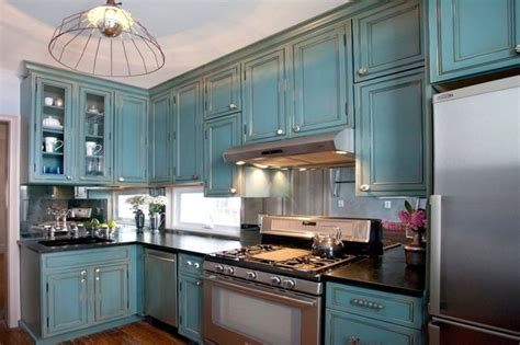 turquoise cabinets kitchen kitchen of the week turquoise cabinets snazz up a space