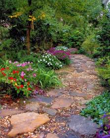 beautiful stone path rustic looking garden and outdoor