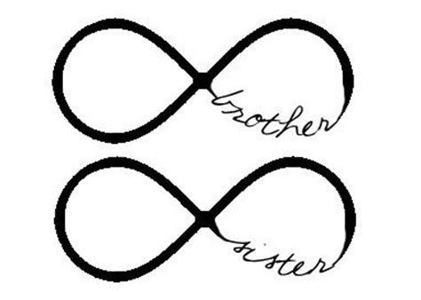 tattoo infinity brother brother sister infinity tattoos ink pinterest