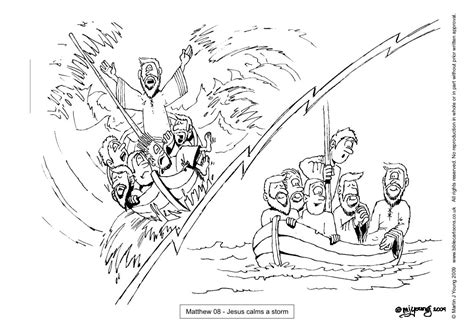 coloring page of jesus calming the sea jesus calms the storm coloring pages coloring home