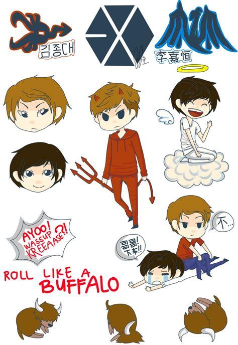 Exo In Sticker By Belloloo exo sticker sheet by jaljello on deviantart