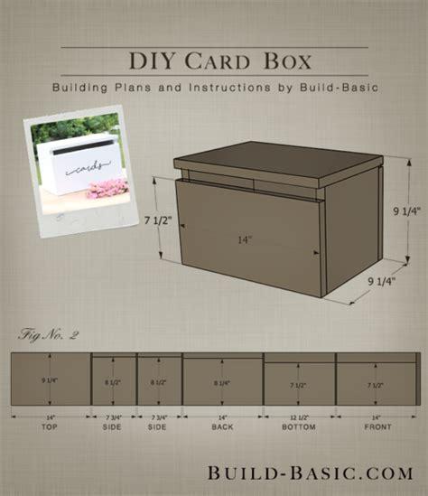 how to make a card box build a diy card box build basic