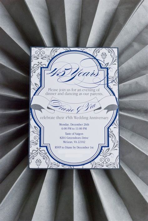 45th Wedding Anniversary Invite   Love The Day PARTY