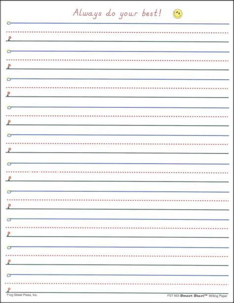 Make Your Own Writing Paper - handwriting sheets for grade blank free lined