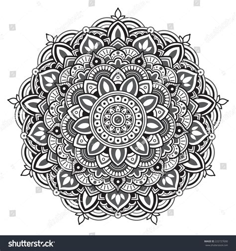 royalty free mandala round pattern 222727690 stock photo