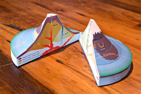 Volcano Papercraft - enjoy this beautiful day 187 paper crafts