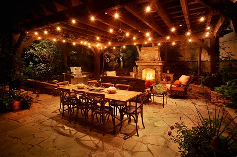 Garden Patio Lights Patio Pergola And Deck Lighting Ideas And Pictures