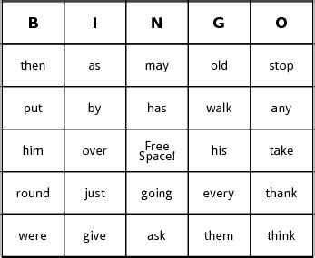 bingo card templates word sight word bingo by bingo card template