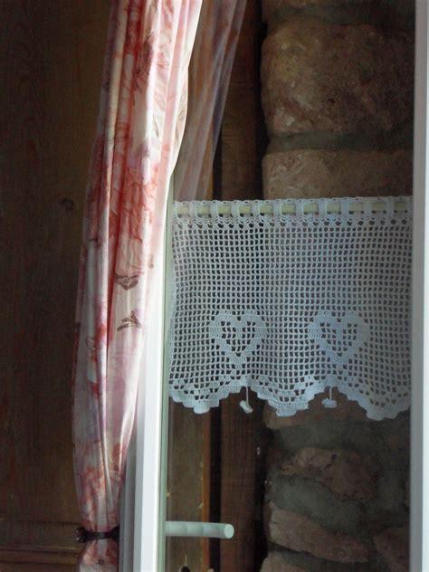 Rideau Crochet Patron by Rideau Crochet Tendresse Des P Coeurs Couture