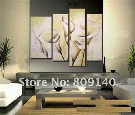 home office wall decor free shipping big size oil painting canva abstract flower