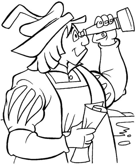 columbus coloring page cartoon coloring pages