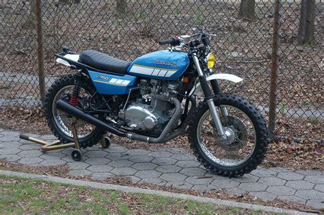 Scrambler Motorrad by Kawasaki Kz750 Scrambler Bikebound