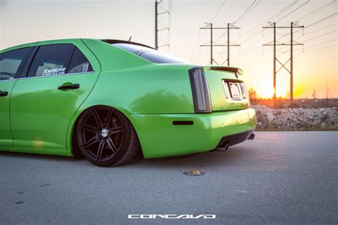 Custom Rubber Sts Handmade By - bagged cadillac sts on 19 cw s6 concavo wheels