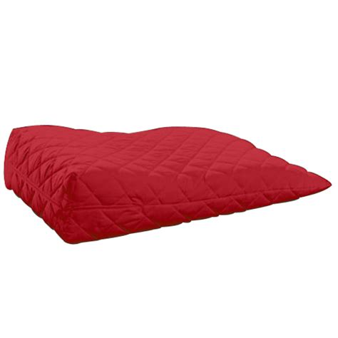 bed wedge pillow for legs red orthopaedic contour leg raise pillow foot rest cotton bed wedge foam support ebay