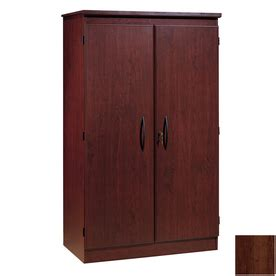 Lowes Storage Cabinets With Doors Shop South Shore Furniture Royal Cherry 4 Shelf Office Cabinet At Lowes