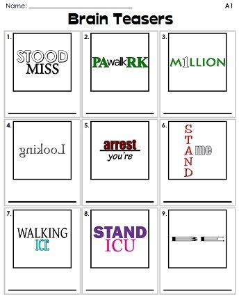 quizzles logic puzzles printable will your class be able to figure out the answers to these