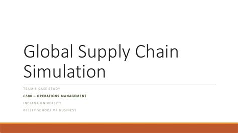 Mba Simulation by Global Supply Chain Study Team8 Submit V2