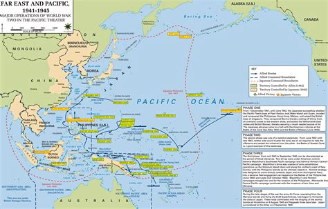 pacific war map world war ii history of stuff