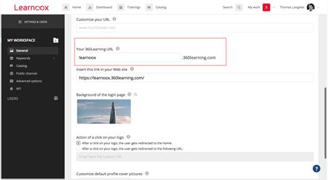 url sections customizing your 360learning url 360learning