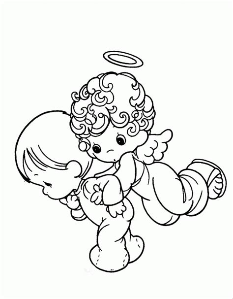 angel coloring pages pdf precious moments angel and baby coloring pages precious