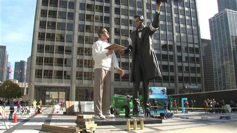 lincoln statues abraham lincoln statue installed downtown abc7chicago