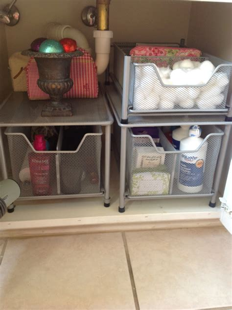 under sink organizer o is for organize under the bathroom sink