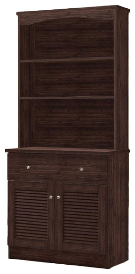 Kitchen China Cabinet Hutch Agni Modern And Contemporary Brown Buffet And Hutch