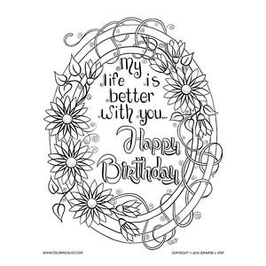 birthday mandala coloring pages free membership coloring pages
