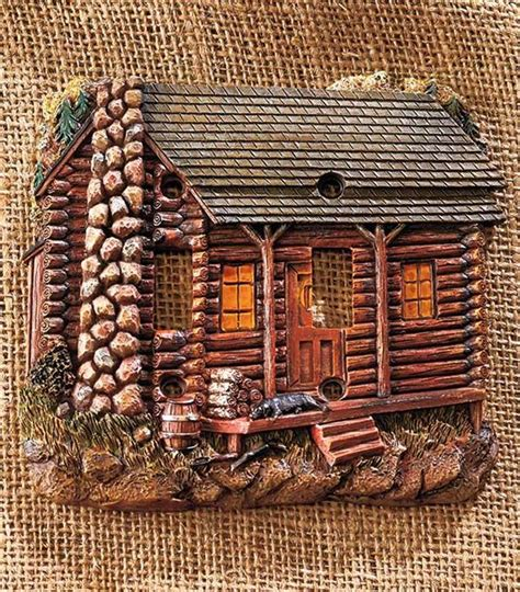 themed light switch covers decorative rustic lodge cabin themed light switch outlet