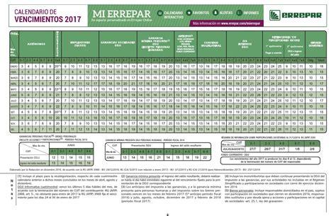 errepar calendario de vencimientos 2016 contador publico uba monotributo certificaciones en