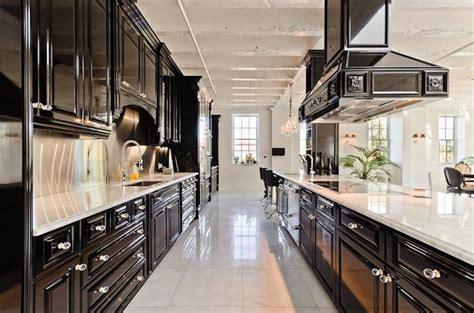 black galley kitchen galley kitchen contemporary kitchen pricey pads