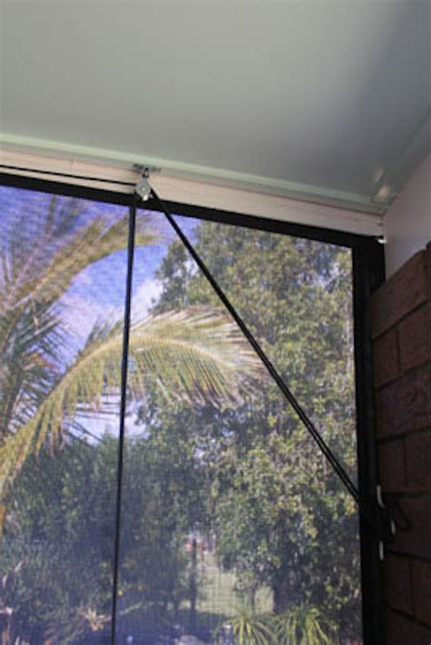 awning pulley system cord and pulley cafe blinds noosa screens and curtains
