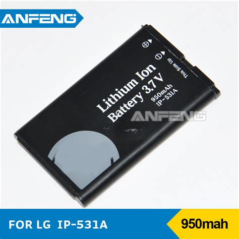 rechargeable lithium ion 3 7v 950mah mobile battery lgip
