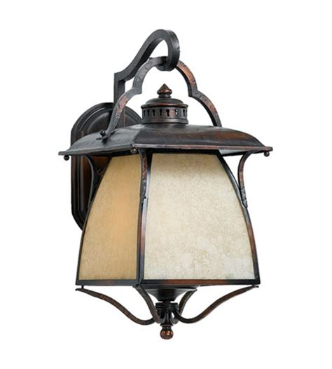 Cottage Outdoor Lighting Quoizel Lighting Cozy Cottage 3 Light Outdoor Wall Lantern In Burnished Copper Cz8411bd