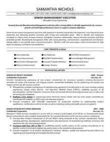 senior executive manufacturing engineering resume job