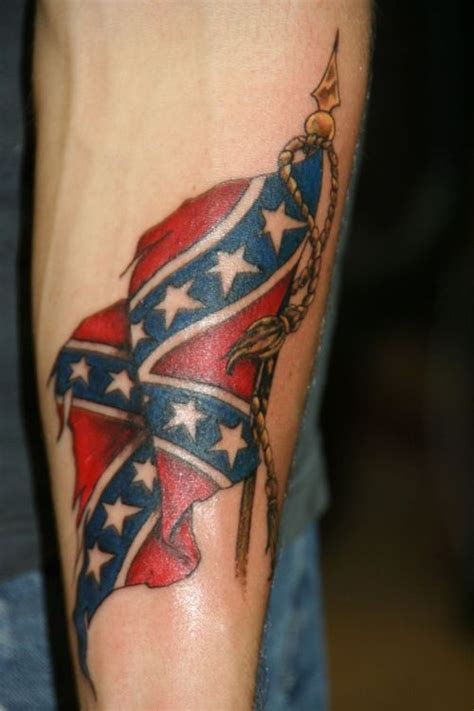 rebel flag tattoos for men trendy and voguish confederate flag tattoos