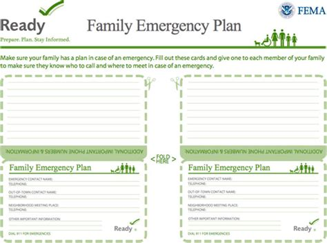 family emergency plan template how to make an emergency kit a plan in place