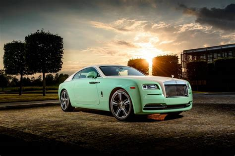 roll royce green bespoke green rolls royce wraith built for michael fux