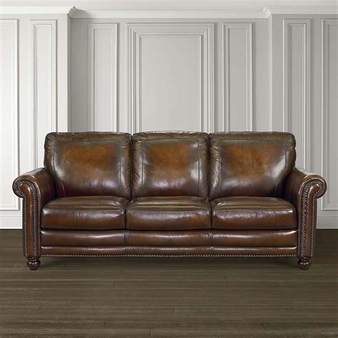 hamilton sofa leather living room bassett furniture