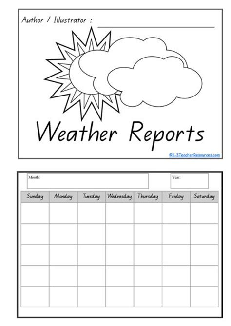 Calendar Weather Printable Calendar And Weather Concept Book