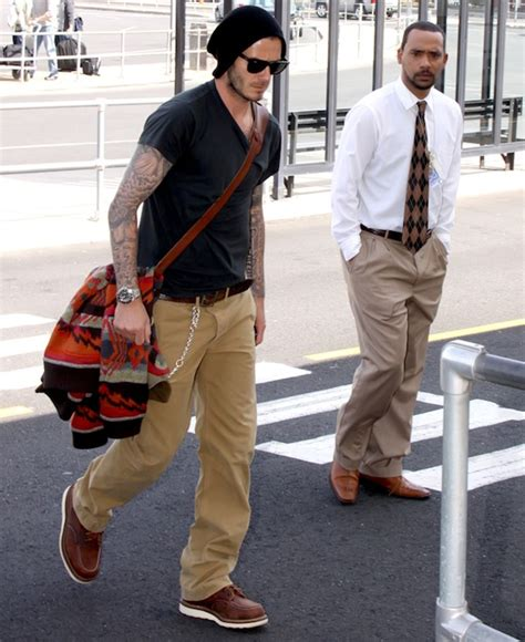 david beckham in ban sunglasses and wing classic