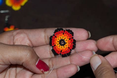 Huichol Flower Tutorial Peiote Jewellery